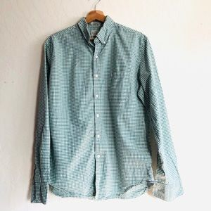 J. Crew classic gingham long sleeved button down